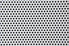 Fundo de aço do teste padrão do furo branco imagem de stock