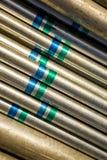 Fundo de aço do tubo Imagens de Stock Royalty Free
