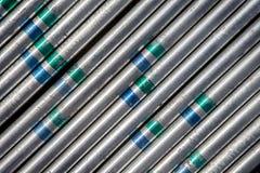 Fundo de aço do tubo Imagens de Stock