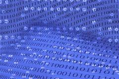 Fundo de Abstact com placa de circuito e código binário Imagens de Stock