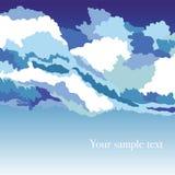Fundo de Abstrakt com céu e nuvens ilustração stock