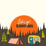 Fundo de acampamento Fotografia de Stock Royalty Free