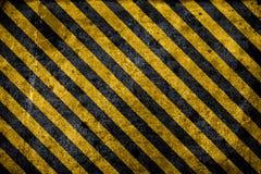 Fundo de advertência do perigo da textura Fotografia de Stock