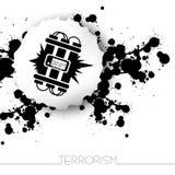 Fundo de advertência do terrorismo do perigo Fotos de Stock
