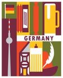 Fundo de Alemanha do vetor ilustração do vetor