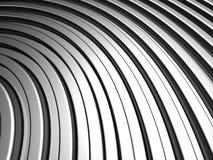 Fundo de alumínio da listra da prata da forma da curva Foto de Stock