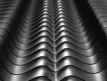 Fundo de alumínio de prata abstrato da listra da curva Fotografia de Stock Royalty Free
