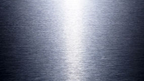 Fundo de alumínio escovado prata da textura Foto de Stock Royalty Free