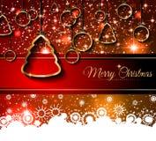 Fundo de 2015 anos novos e do Natal feliz Fotos de Stock Royalty Free
