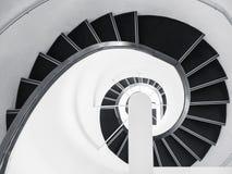 Fundo de Art Abstract dos detalhes da arquitetura da escadaria espiral foto de stock royalty free