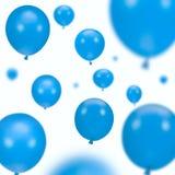 Fundo de balões azuis do partido Fotografia de Stock