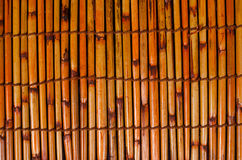 Fundo de bambu da esteira Foto de Stock