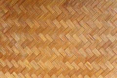 Fundo de bambu da textura do Weave Fotografia de Stock Royalty Free