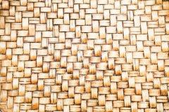 Fundo de bambu do artesanato do vintage antigo Imagem de Stock