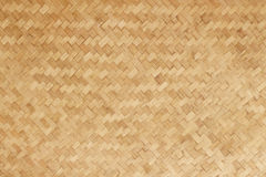 Fundo de bambu natural tecido bambu da esteira lisa Imagem de Stock