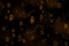 Fundo de Bitcoin, BTC Imagem de Stock Royalty Free