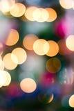 Fundo de Blured de uma árvore de Natal Fotografia de Stock