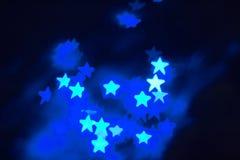 Fundo de Bokeh da estrela imagem de stock