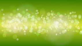 Fundo de Bokeh das partículas do ouro verde video estoque