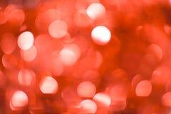 Fundo de Bokeh do Natal: Vermelho Imagem conservada em estoque Fotos de Stock