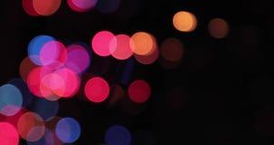 Fundo de Bokeh Garland Multicolored Abstract Blurred Background piscando filme