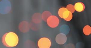Fundo de Bokeh Garland Multicolored Abstract Blurred Background piscando vídeos de arquivo