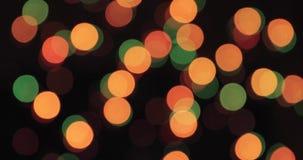 Fundo de Bokeh Garland Multicolored Abstract Blurred Background piscando video estoque