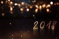Fundo de Bokeh pelo ano novo Fotos de Stock