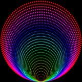 Fundo de bolas coloridas em um fundo preto ilustração do vetor
