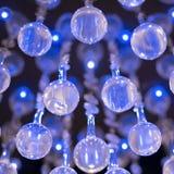 Fundo de bolas de vidro azuis Foto de Stock