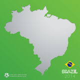 Fundo de Brasil Foto de Stock Royalty Free