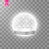 Fundo de brilho abstrato do pódio com projetores Cena de brilho branca Você ganha o luxo, o sucesso e o projeto do tesouro ilustração royalty free