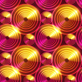 Fundo de brilho abstrato vermelho do vetor dos círculos Imagens de Stock Royalty Free