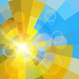 Fundo de brilho colorido abstrato Imagens de Stock Royalty Free