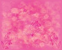 Fundo de brilho com rosas ilustração stock