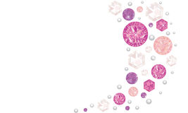 Fundo de brilho cor-de-rosa do vetor dos diamantes Imagem de Stock Royalty Free