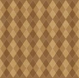 Fundo de Brown com rhombuse Fotografia de Stock