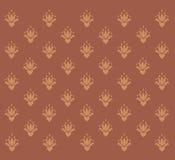 Fundo de Brown com testes padrões do vintage Foto de Stock Royalty Free
