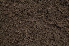 Fundo de Brown do solo para jardinar fotos de stock
