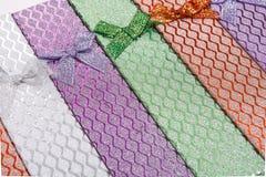Fundo de caixas de presente coloridas com curvas Fotos de Stock