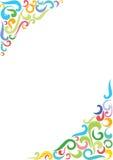 Fundo de canto colorido ilustração royalty free