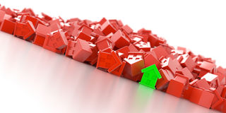 Fundo de casas verde Imagens de Stock Royalty Free