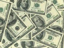 Fundo de cem contas de dólar Fotos de Stock Royalty Free
