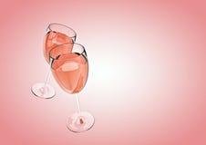 Fundo de Champagne Imagens de Stock