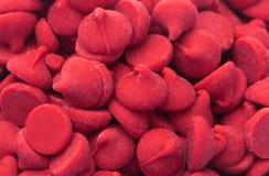 Fundo de Cherry Baking Chips vermelho gourmet fotos de stock royalty free