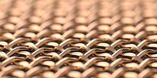 Fundo de cobre do macro da malha Fotografia de Stock Royalty Free