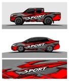 Fundo de competência abstrato para o carro e os veículos do caminhão ilustração royalty free