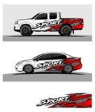 Fundo de competência abstrato para o carro e os veículos do caminhão ilustração do vetor