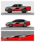 Fundo de competência abstrato para o carro e os veículos do caminhão ilustração stock
