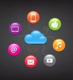 Fundo de computação da nuvem Foto de Stock